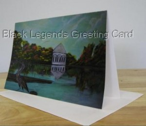 Black Legends Greeting Card-Moments